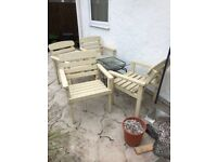 4 wooden garden chairs buyer collect