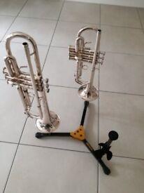 Hercules Trumpet, Cornet & Flugelhorn Triple Stand