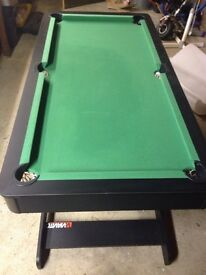 Pool/Snooker table 5x3ft (foldable)