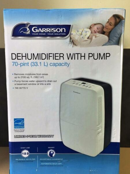 garrison 70 pint dehumidifier with pump manual