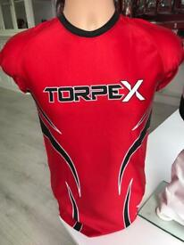 Red & black Compression top