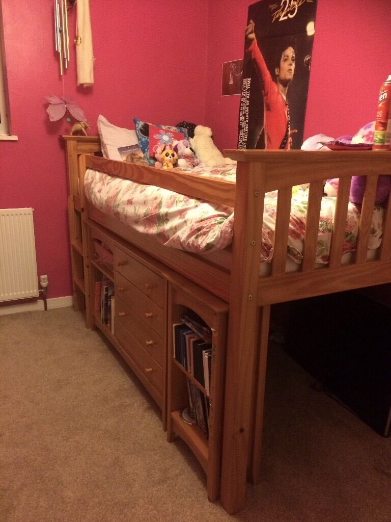 Children's Solid Pine Cabin bed with lots of available Storage