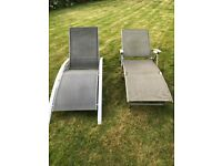 Sun loungers (two) - used