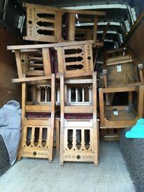 Job lot of 34 gothic revival church chairs ,restaurant,cafe etc.dealer lot.