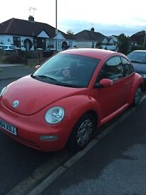 Vw Beetle 1.9tdi red manual 6disk cd changer