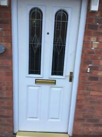 White front door with Frame Reduced for quick sale