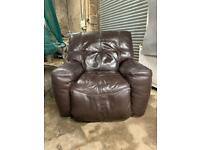 SOLD**** Large Heavy Leather Electric Chair Stirling Furniture Good Condition