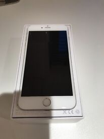 Apple IPhone 6 Plus. White and Silver. 16 GB In excellent condition with box, paperwork and charger.