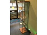 Glass display cabinet and two hanging display boards for sale