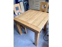 Solid Oak Extending Dining Table from Oak Furniture Land