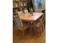 Extendable dining table, seats 6-10