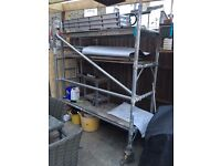 Used Portable Scaffold Tower (Miniscaff) - For Sale Collection only in North London