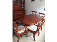 Extending table & chairs