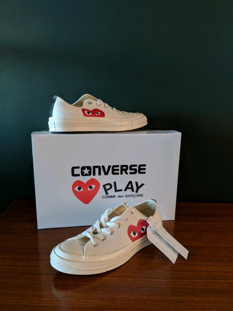 d64294dffc37e8 Commes des Garcons x Converse 70s Chuck Taylor Sneakers Size 7 BRAND NEW  WITH BOX
