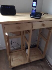 John Lewis kitchen trolley with table that holds down vvvgc no offers collect Maidenhead
