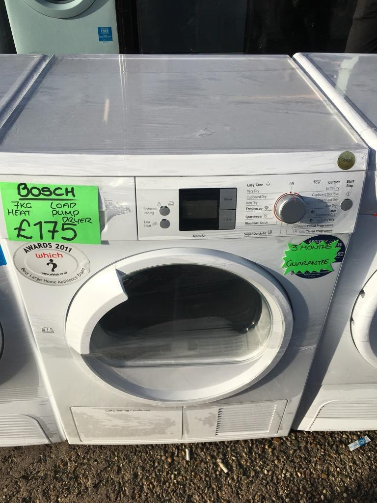 BOSCH 7KG DIGITAL SCREEN HEAT PUMP CONDENSER TUMBLE DRYER