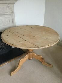 Rustuc wooden table round foldable