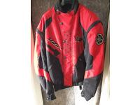 Yamaha R6 motorbike textile riding jacket size XL