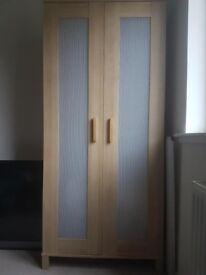 Ikea Wardrobe with 1 Shelf and hanging rail