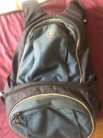 Crumpled Camera backpack