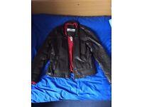 Superdry 'Real Hero' leather biker jacket.