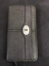 Grey Fossil wallet