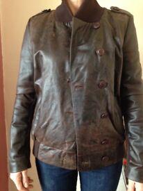 Leather jacket size 8/10 new
