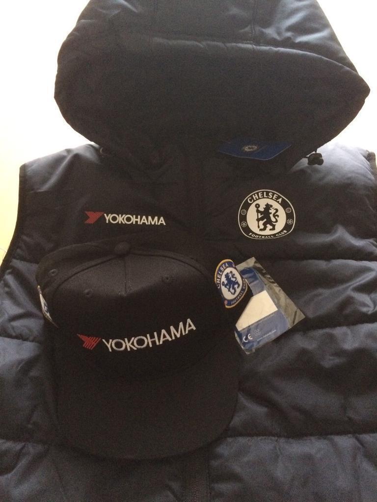 Men's Chelsea football club gilet black size large