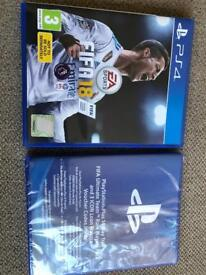 Fifa 18 PS4 + Rare player pack - New & Sealed