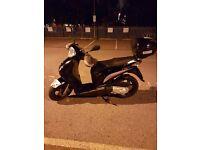 Honda Pes 125 R-8 Reg 61 (2011) Black colour with Orignal Honda box and heavy duty chain lock