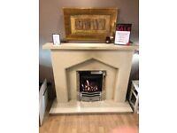 Plain Gothic III Cream Fireplace