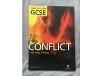NEW York Notes GCSE Conflict Poetry Anthology English Literature Text Book (1-9)