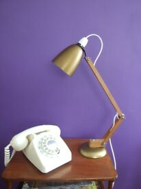 Retro Vintage 60s 70s Wooden Arm Maclamp Desk Lamp