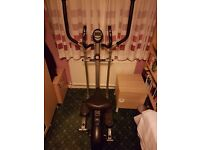 Exercise bike and cross trainer - combined 2 in 1 (V-fit) Solid machine and smooth action.