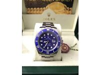 Rolex Submariner, Silver with blue face & bezel