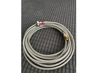 QED professional coaxial satellite cable - 5m, terminated, used, like new