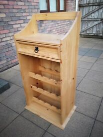 Pine Wine Rack Drawer Unit - Excellent Condition!!