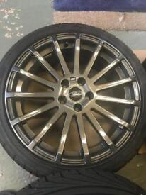 """Ford Focus RS 18"""" Alloy Wheels with as new tyres"""