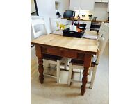 Lovely farmhouse dining table and 4 chairs painted