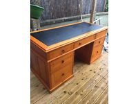 Lovely Pine Desk with leather