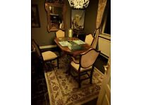 Dinning table set, 4 chairs (Real wood )