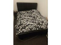 Bed double faux leather new matrice