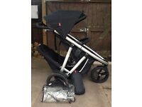 Phil & Teds double buggy black. Great condition