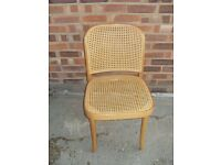 BEECHWOOD FRAMED CHAIR WITH CANE SEAT AND BACK