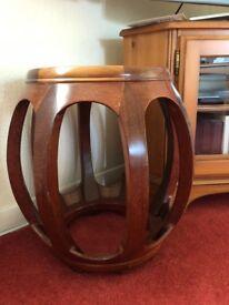 Rosewood stool-elephant foot shape
