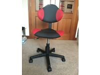 Black/Red Swivel Computer Chair