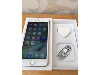 IPHONE 6 PLUS - 16GB - O2 - SILVER - BOXED - PERFECT WORKING CONDITION INC FINGERPRINT SENSOR -