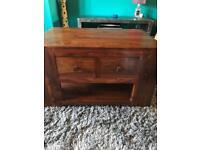 Dark cherry wood coffee table / statement piece/ small tv unit