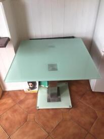 square glass table (no chairs)