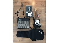 Fender Stratocaster + EMG-KH20 + VOX AD30VT + Boss TU80 + Stand and Cable